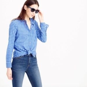 J. CREW Gingham Top Check Button Down Boy Shirt 00